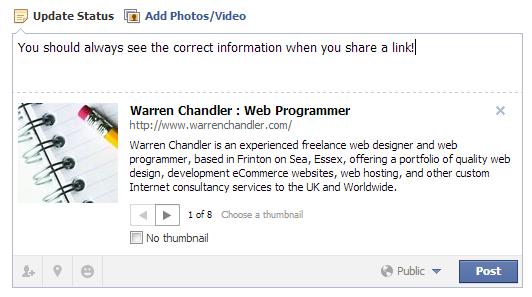 Facebook Links Showing Old Site