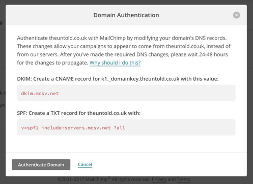 Add Mailchimp Dkim And Spf Records In Cpanelwhm Web Programmer Blog