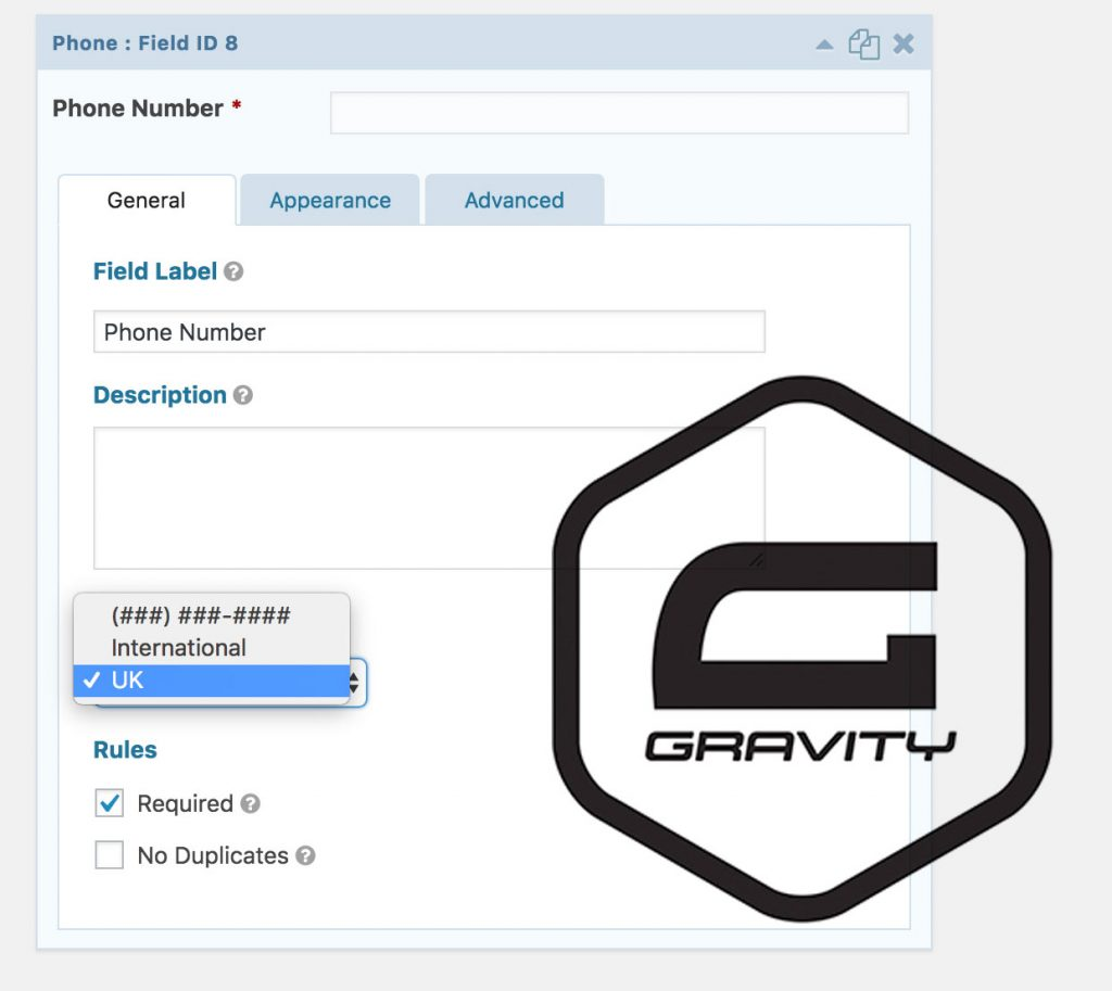 Gravity Forms Telephone Validation (UK Number with Maximum and