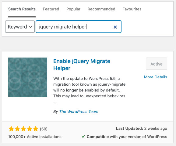 JQuery migrate problem solution with plugin