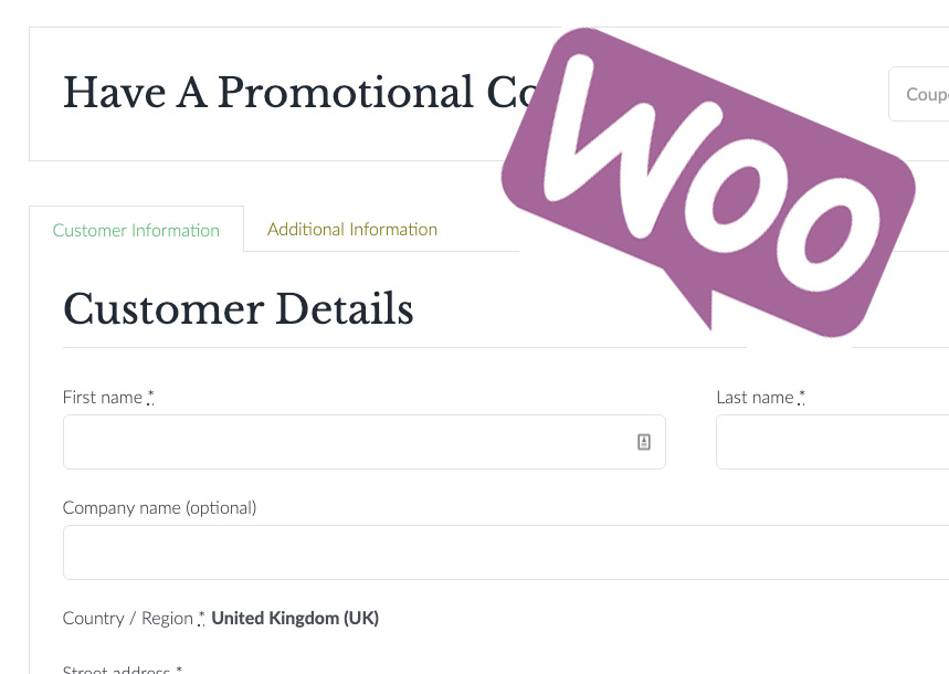 Change Woocommerce Billing Labels and Text